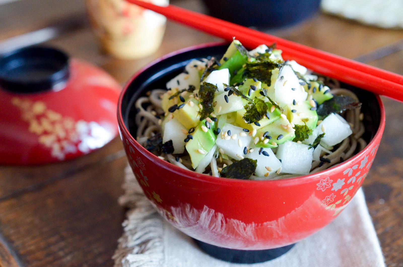 Salade Chou Japonaise Poire Avocat Algue Nori (2 Sur 8)