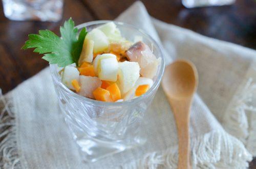 Verrines de hareng à la mimolette