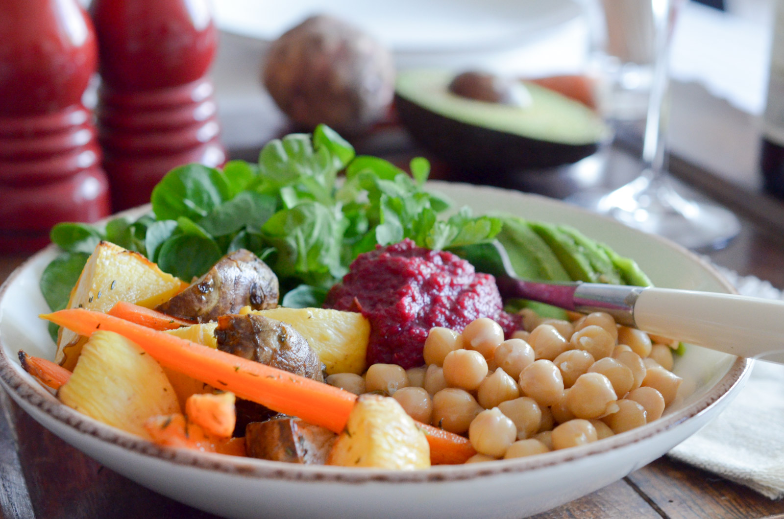 Rainbow Salad Legumes Rotis Caviar Betterave (4 Sur 6)