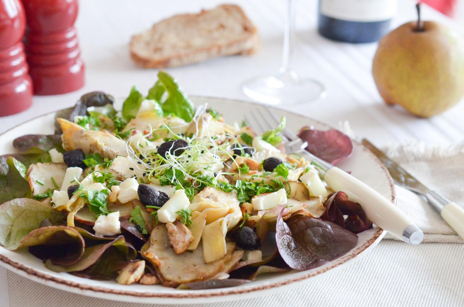 Salade Tiede Topinambours Artichauts (7 Sur 7)
