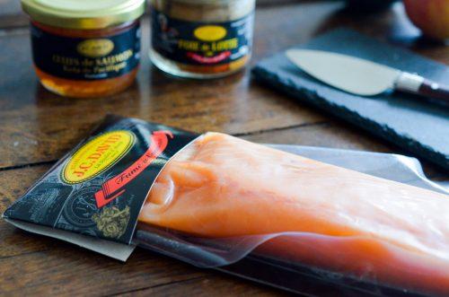 Saumon aux agrumes, vinaigrette sésame
