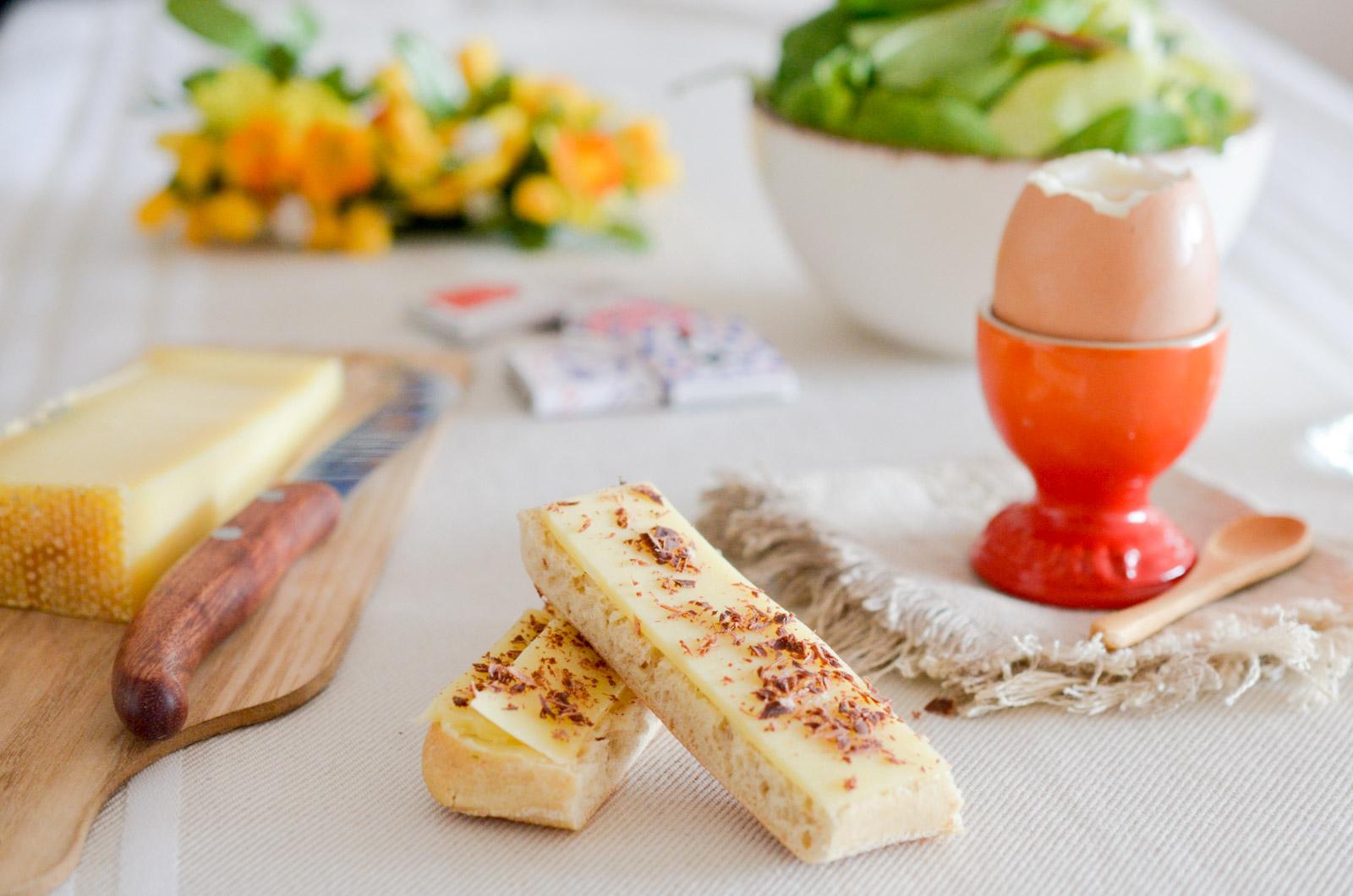 Mouillettes au Gruyère Suisse et au chocolat
