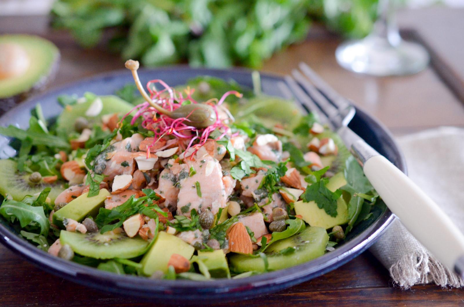 Salade Croquante Saumon Basilic (8 Sur 8)