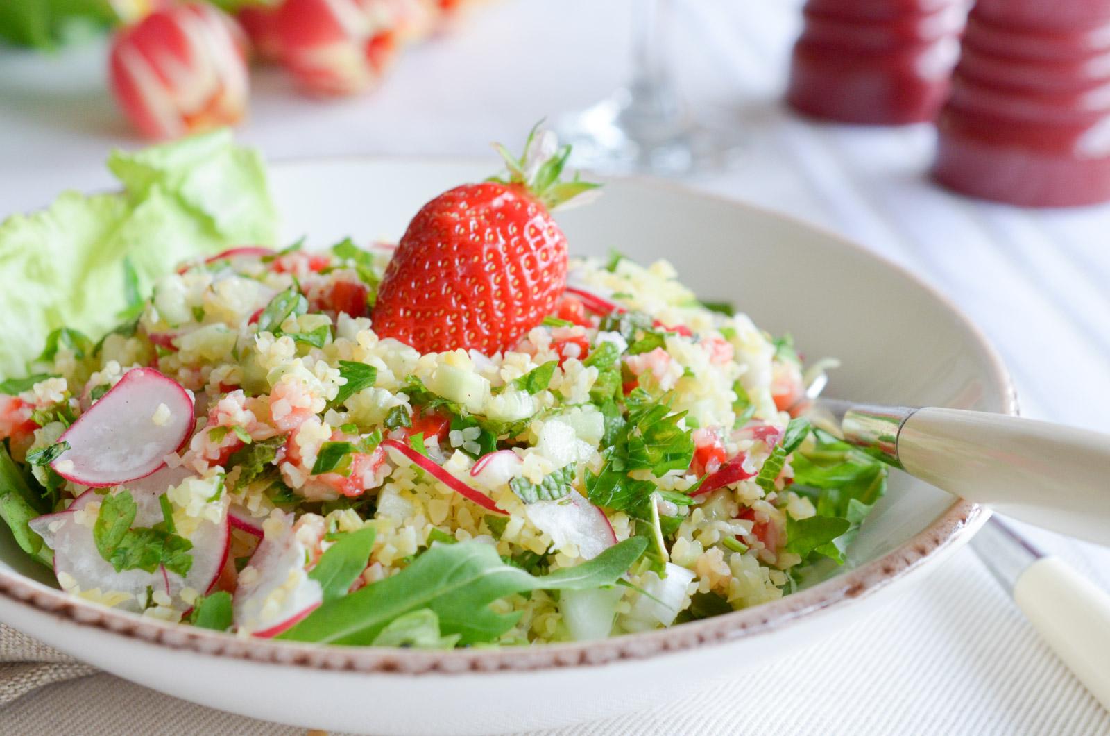 Taboulé feta fraise