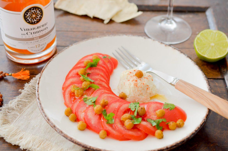 Carpaccio Tomates Houmous Vinaigre Ail (4 Sur 9)