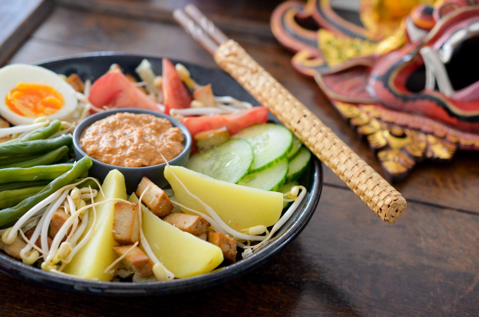 Gado Gado - légumes sauce cacahuète