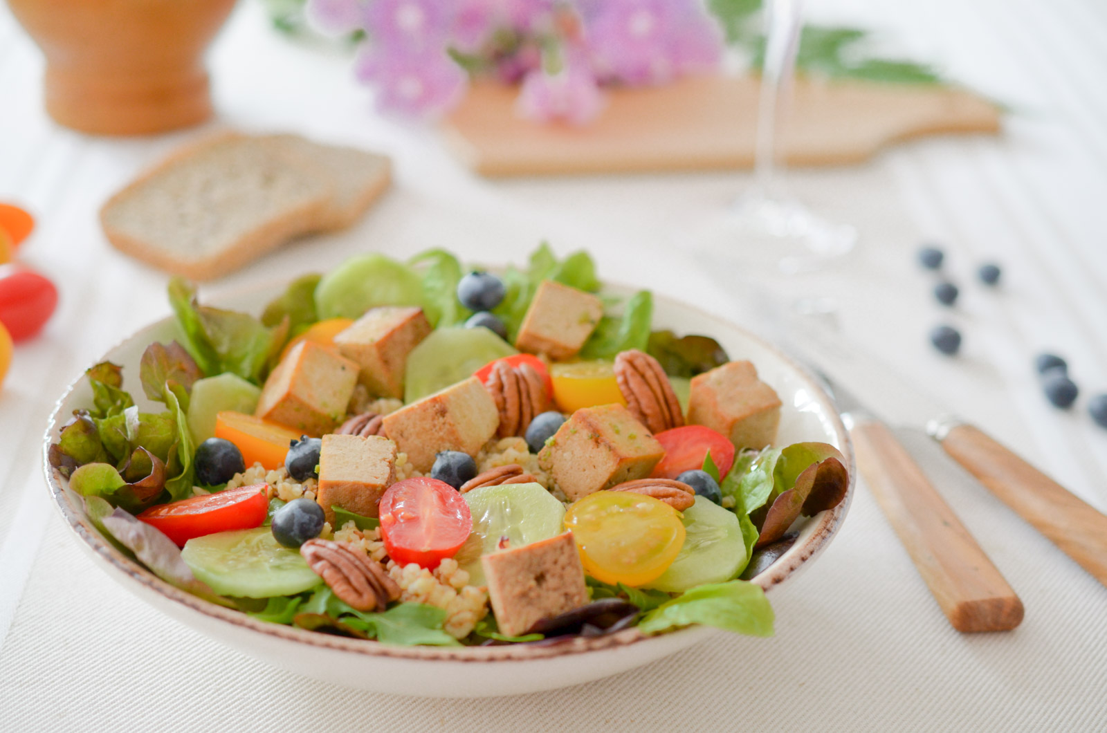 Salade Tofu Fume Erable (6 Sur 9)