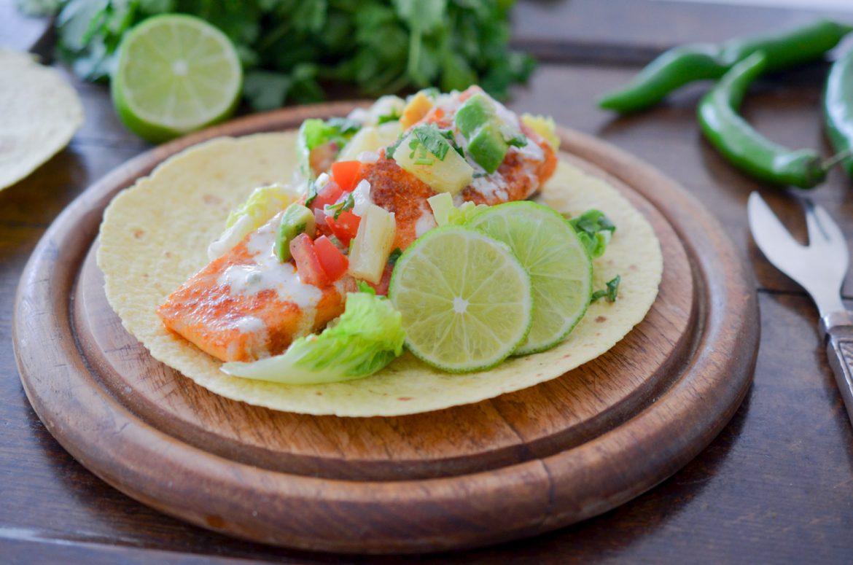 Tacos Saumon Salsa Ananas (10 Sur 10)
