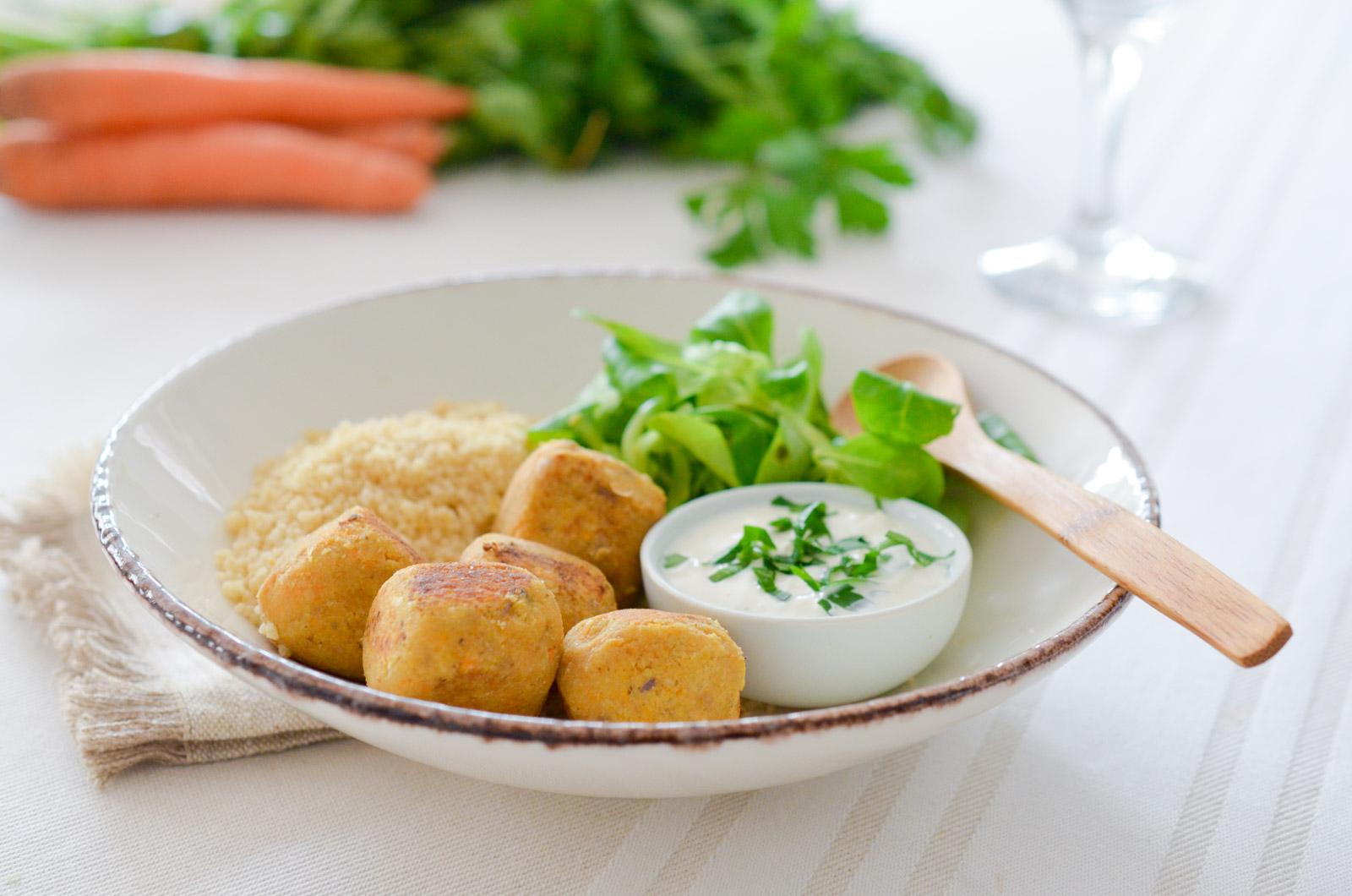 Falafels aux carottes et harissa