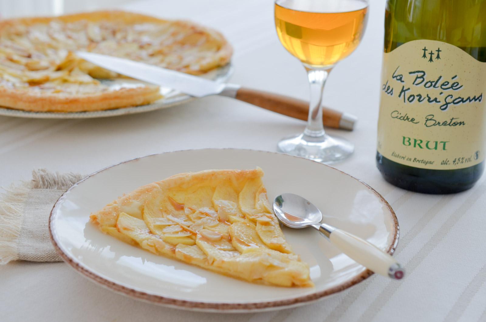 Tarte fine aux pommes et caramel au beurre salé