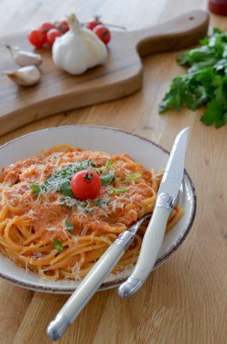 Pates crémeuses à l'italienne