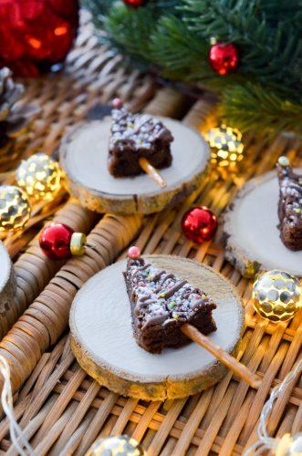 Sapins tout chocolat façon sucettes de Noël