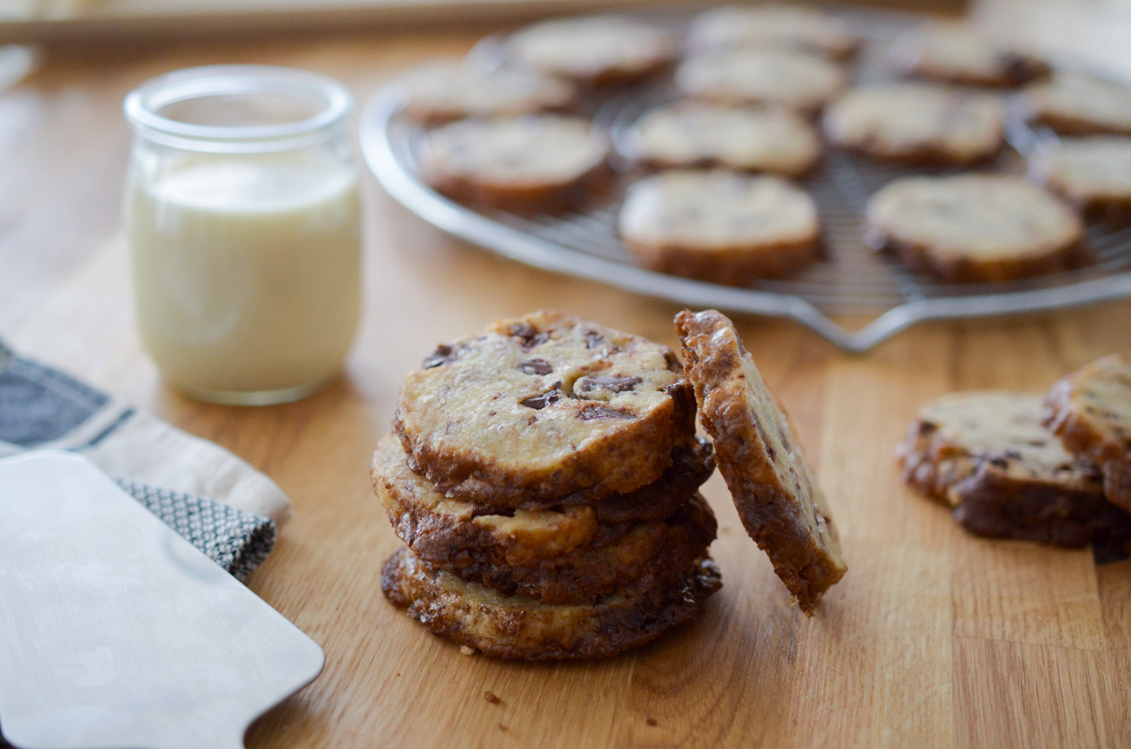Salted Butter and Chocolate Chunk Shortbread - Les cookies façon Alison Roman