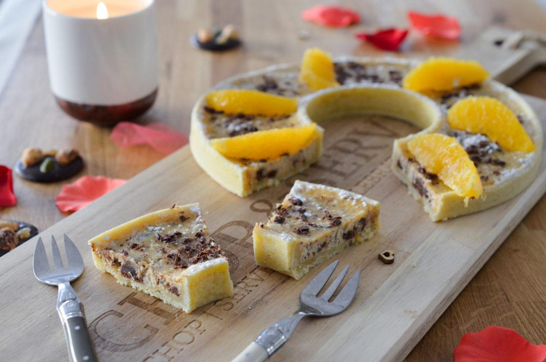 Tarte Chocolat Ricotta Orange (7 Sur 13)