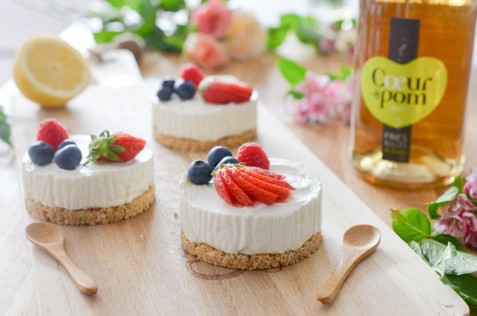 Cheesecake sans cuisson aux fruits rouges