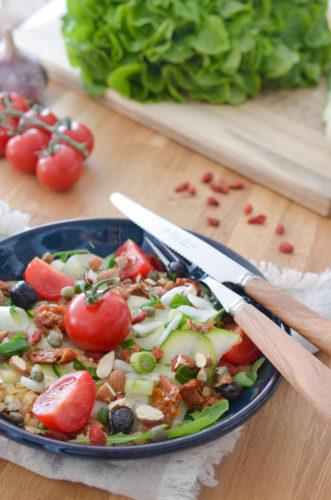 Salade énergie aux lentilles corail et baies de goji