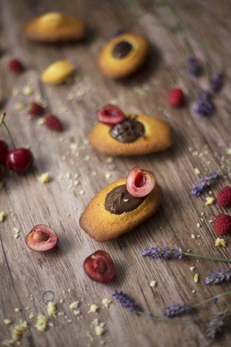 Madeleines à la mousse au chocolat