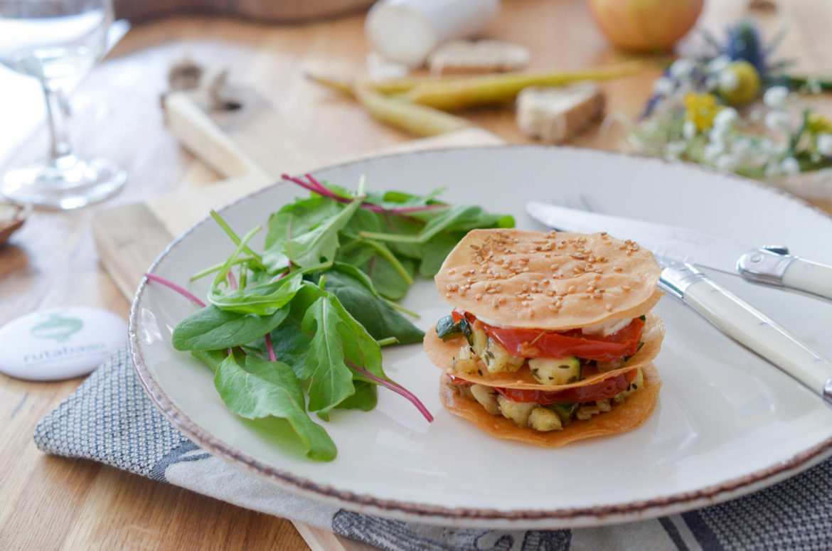 Millefeuille Chevre Courgette Tomate (5 Sur 10)