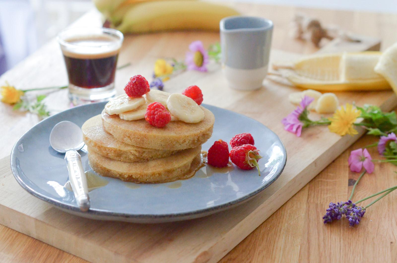 Pancakes au café