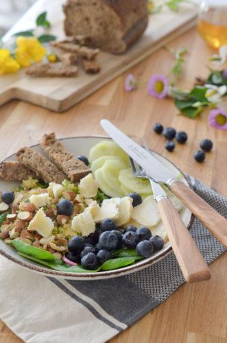 Salade myrtilles fromage de chèvre