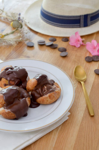 Profiteroles glacées au chocolat