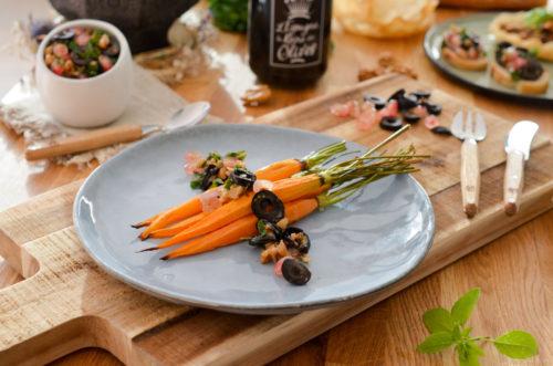 Salsa aux olives et grenade