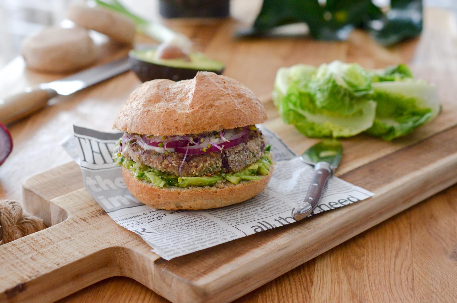 Veggie Burger aux haricots rouges et guacamole