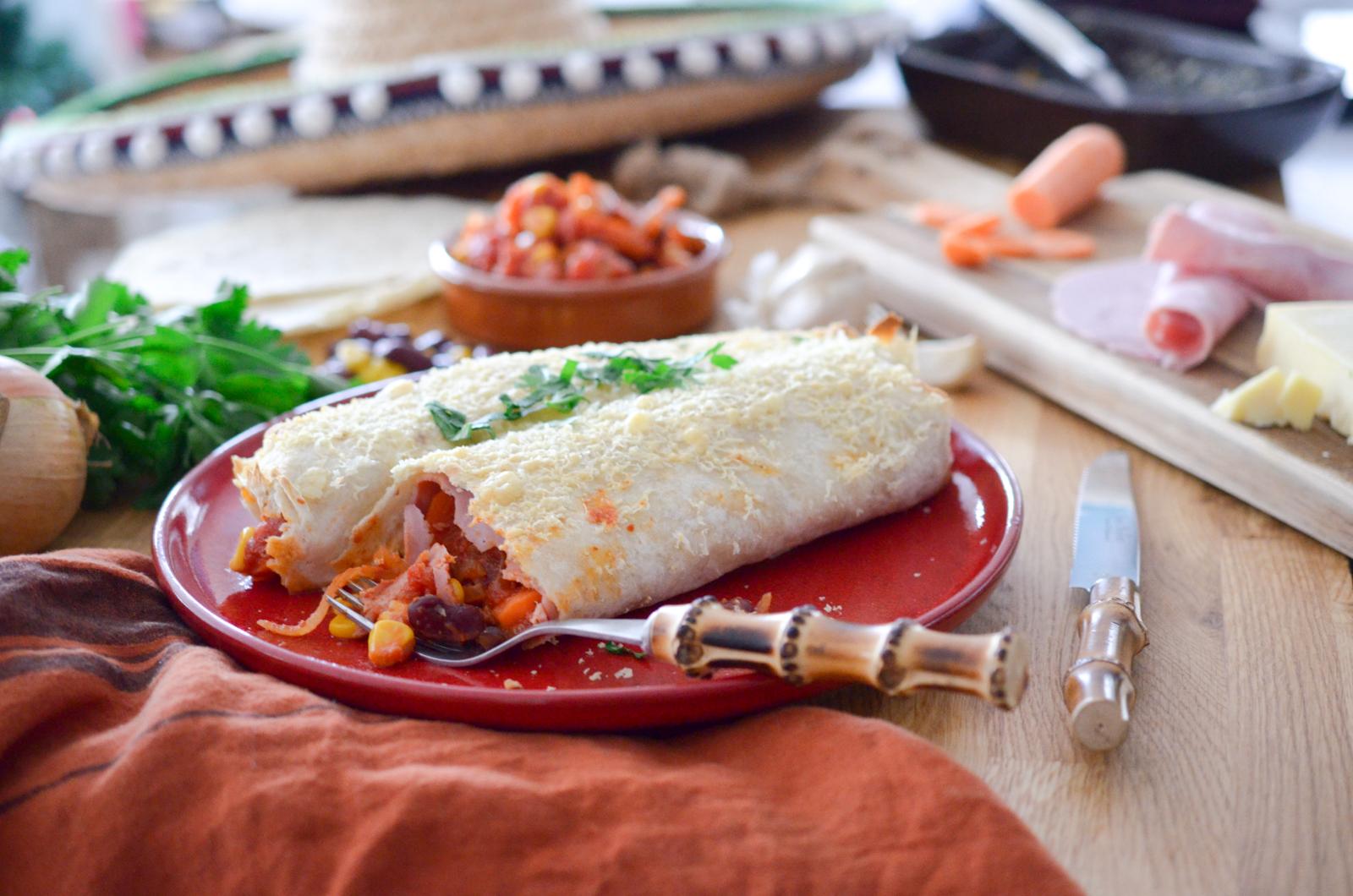 Enchiladas au jambon