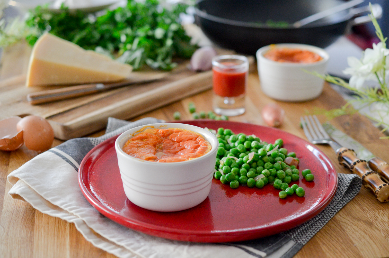 Flan tomate mozzarella