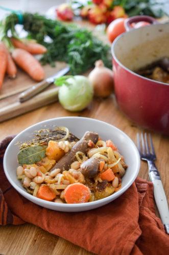 Cassoulet végétarien aux carottes