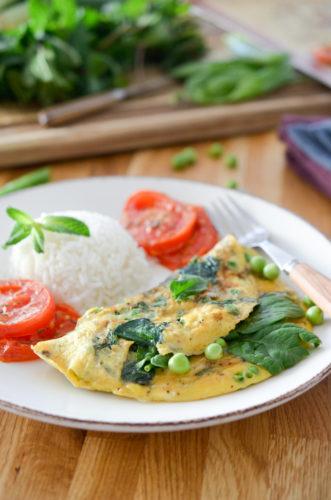Omelette aux Petits Pois