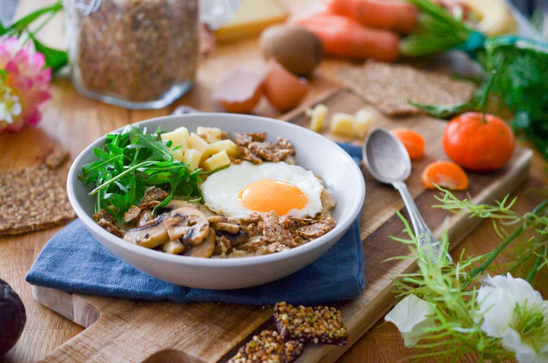 Recette Porridge Sale Champignons