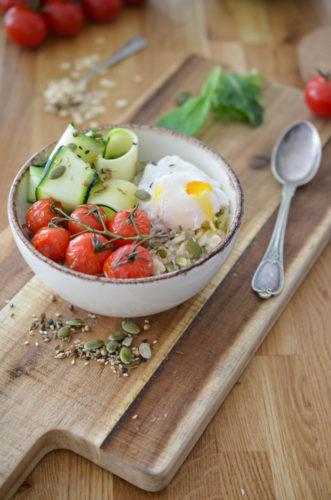 Porridge Salé aux Courgettes