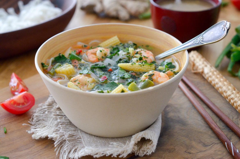 Recette Soupe Crevettes Thai 2