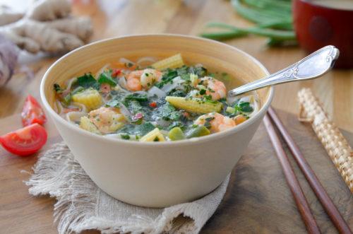 Recette Soupe Crevettes Thai 4