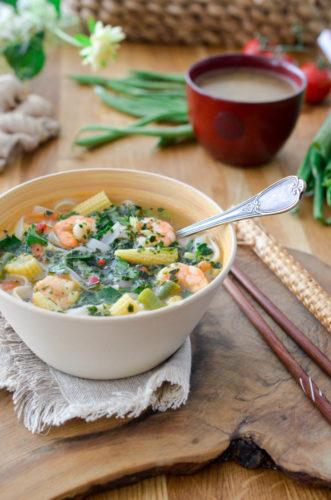 Recette Soupe Crevettes Thai 6