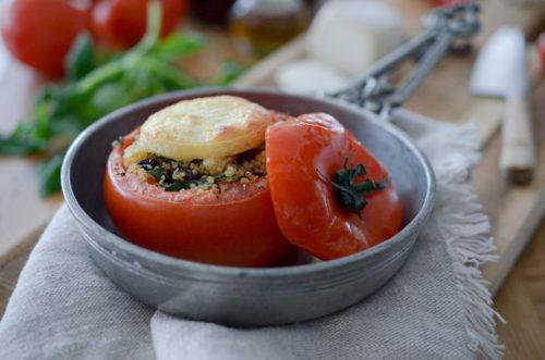 Recette Tomates Farcies Quinoa Crottin Ete