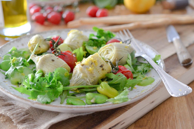 Recette Salade Artichauts Feves Citron 3