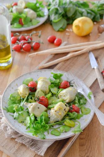 Recette Salade Artichauts Feves Citron 8
