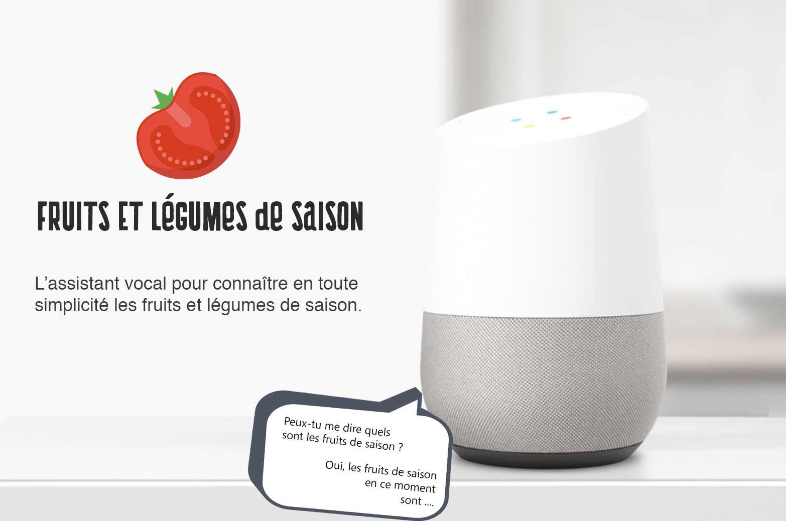 Google Assistant  Fruits Et legumes par Les Pépites de Noisette