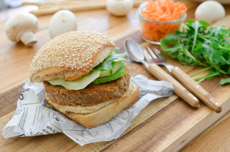 Recette Burgur Vegan Champignons Miso 11