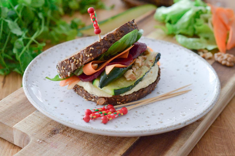 Recette Club Sandwich Vegan Houmous