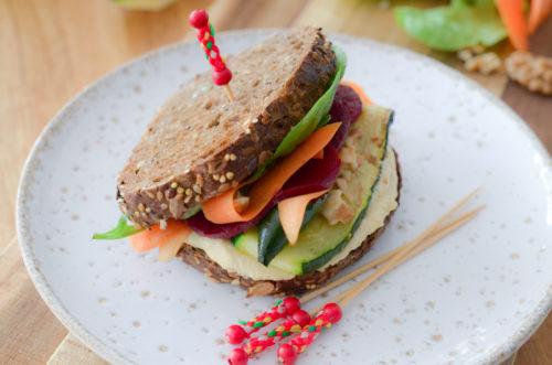 Recette Club Sandwich Vegan Houmous 2