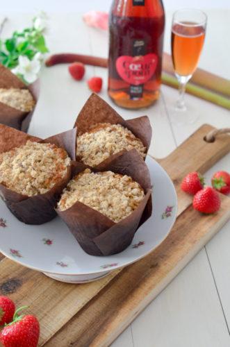 Recette Muffins Fraise Rhubarbe Coeur De Pom 6