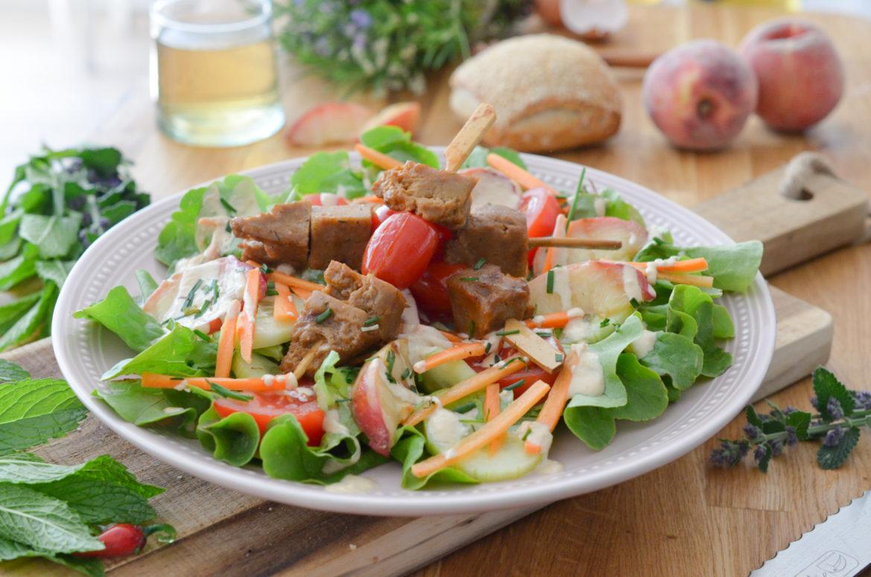 Recettes Salade Brochettes Seitan