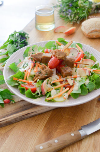 Recettes Salade Brochettes Seitan 5