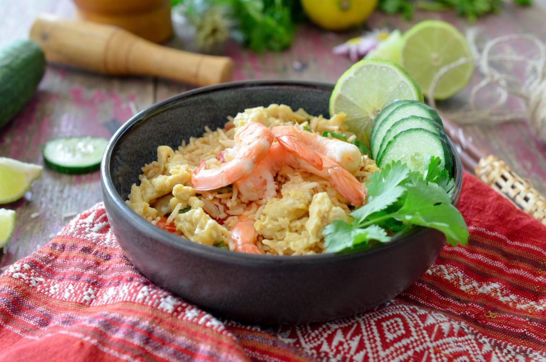 Recette Riz Saute Cambodge Crevettes Taureau Aile
