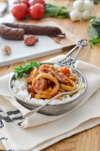 Recette Calamars Chorizo 4