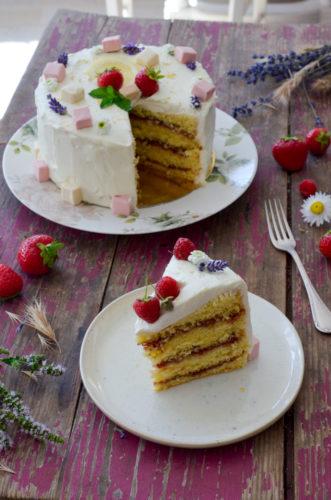 Recette Layer Cake Fraise Citron Decoupe