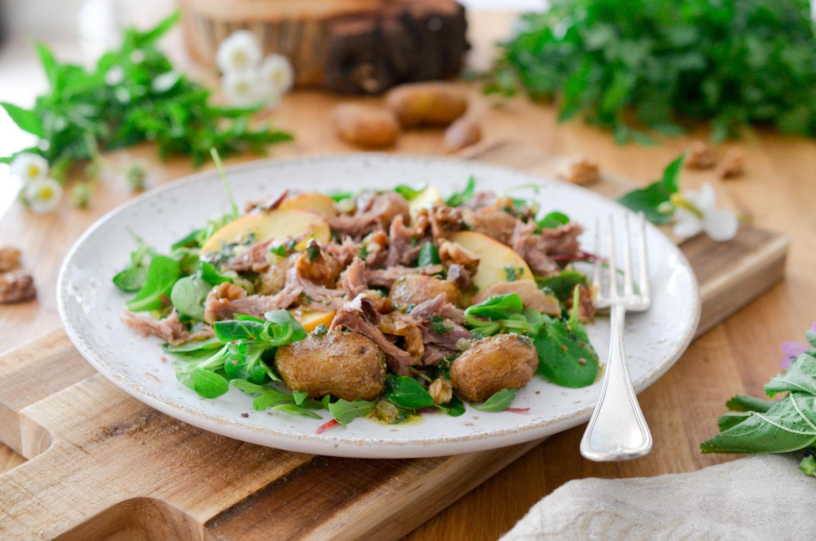 Salade au confit de canard